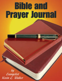 bible and prayer journal kevin walker