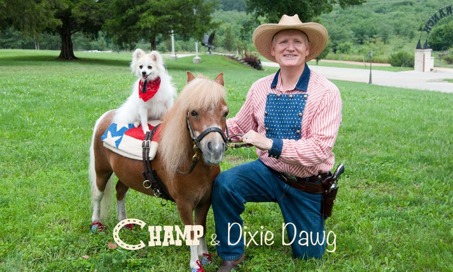 Champ the Smiling Trick Horse and Dixie Dawg