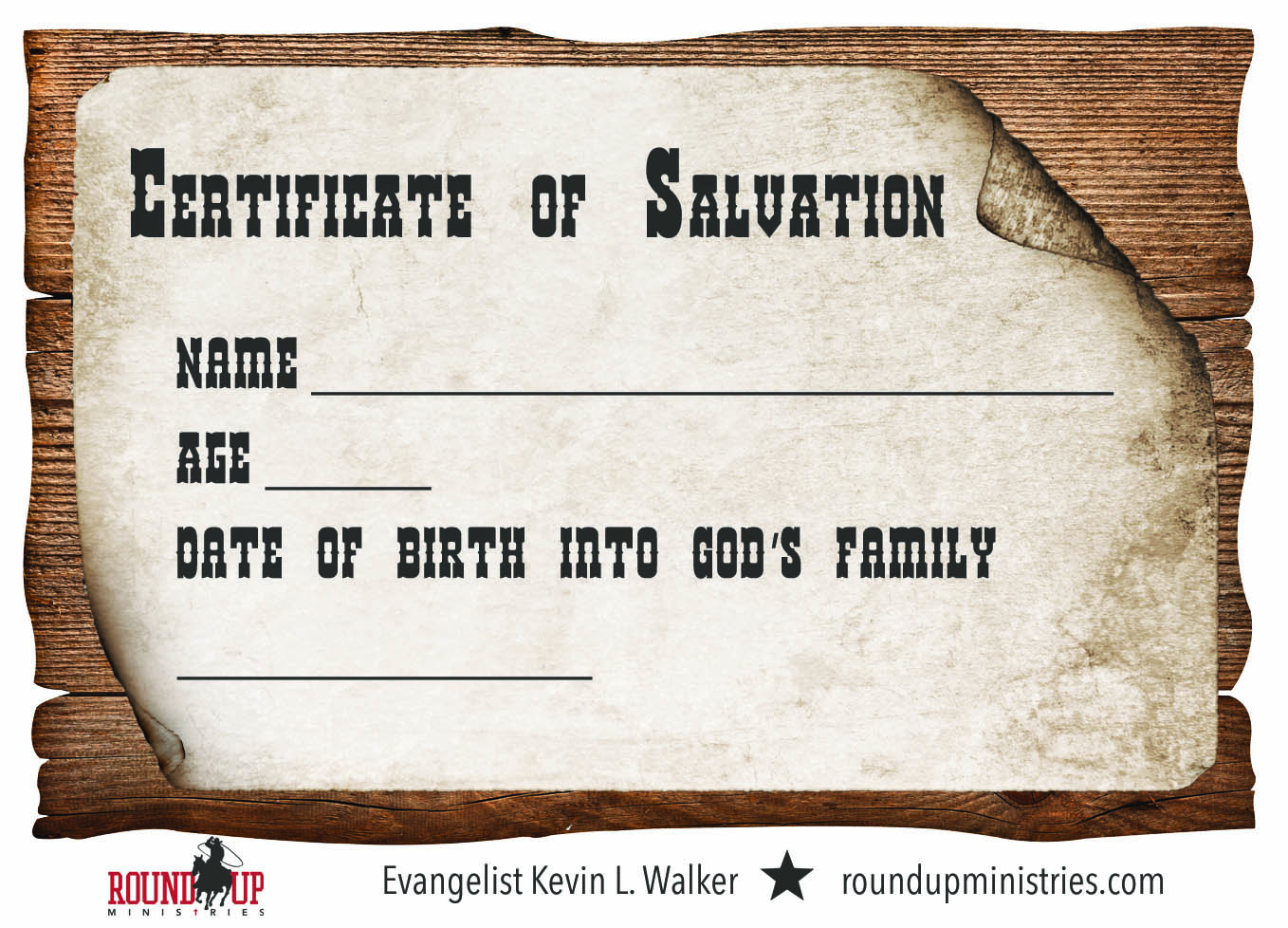 salvation certificate